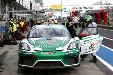 GT4-Porsche mit Steer-by-wire im GTC Race